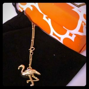 """NWOT Lilly Pulitzer Flamingo Gold Necklace. 16"""""""